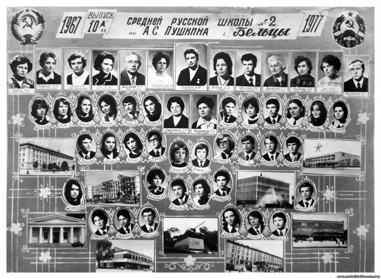 Выпуск 8 г класса, сш 2, бельцы, 1978-1986 годы